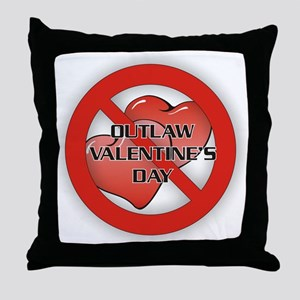 Outlaw Valentine's Day Throw Pillow