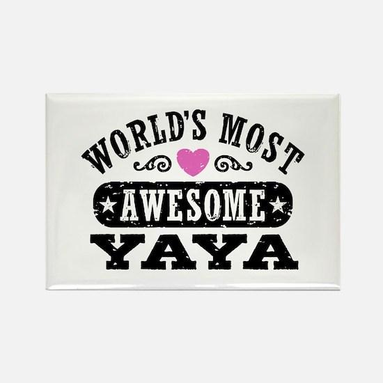 World's Most Awesome Yaya Rectangle Magnet