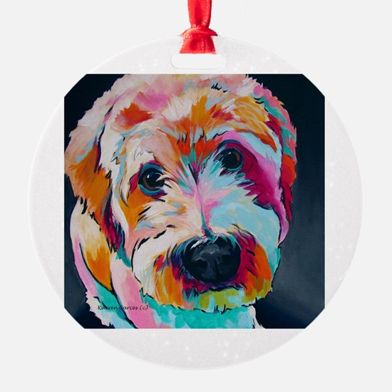 Cute Holiday Round Ornament