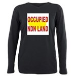 Occupied NDN Land Plus Size Long Sleeve Tee
