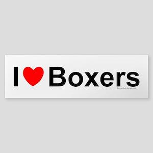 Boxers (bumper) Bumper Sticker