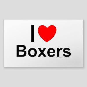 Boxers Sticker (rectangle)