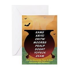 Cauldron Scramble - Halloween Card