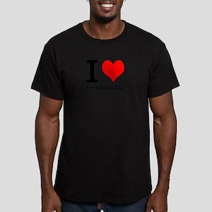 I Love My Bonus Dad Men's Fitted T-Shirt (dark)