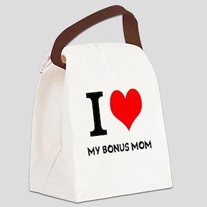 I Love My Bonus Mom Canvas Lunch Bag