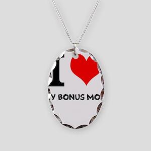 I Love My Bonus Mom Necklace Oval Charm