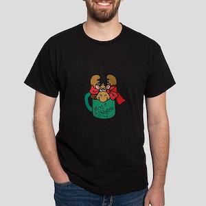 Cute Moose in a Mug Dark T-Shirt