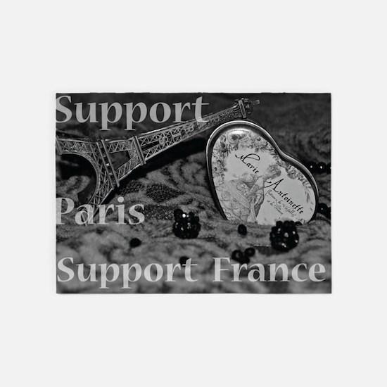 France 5'x7'Area Rug