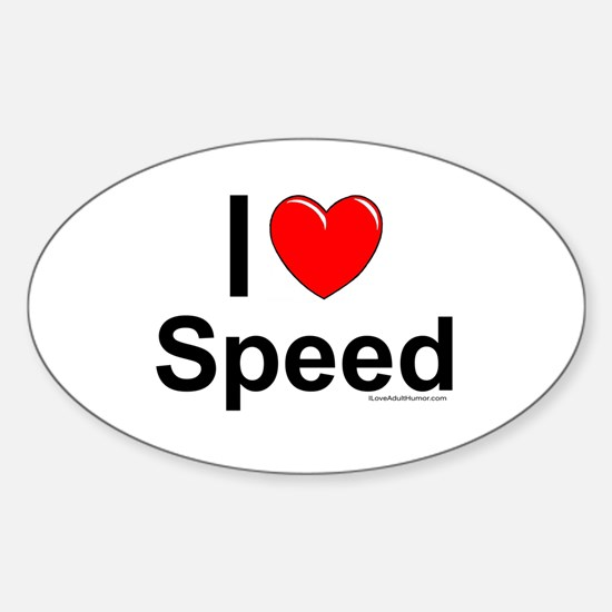 Speed Sticker (Oval)