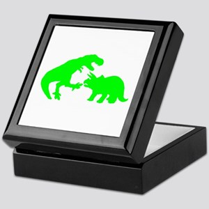Tyrannosaur and Triceratops g Keepsake Box
