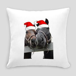Christmas Horses Everyday Pillow