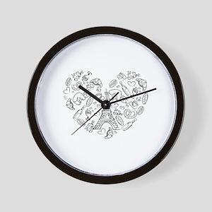 Paris Love Wall Clock