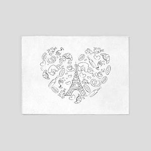 Paris Love 5'x7'Area Rug