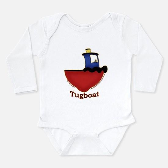 Cute Boat tug Long Sleeve Infant Bodysuit