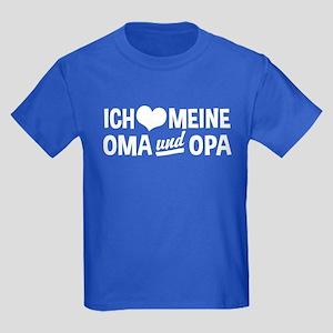 Ich Liebe Meine Oma Und Opa Kids Dark T-Shirt