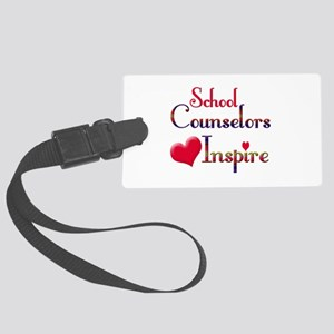 School Counselor Large Luggage Tag