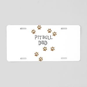 Pitbull Dad Aluminum License Plate