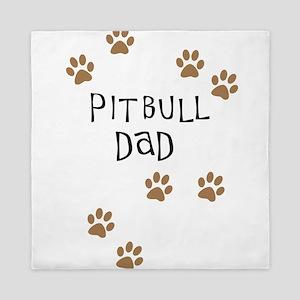 Pitbull Dad Queen Duvet