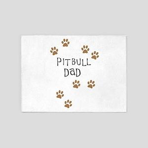 Pitbull Dad 5'x7'Area Rug