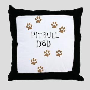 Pitbull Dad Throw Pillow