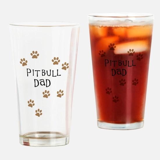 Pitbull Dad Drinking Glass