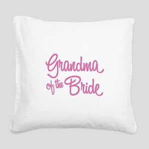 Grandma of the Bride Square Canvas Pillow
