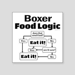 """Boxer Food Square Sticker 3"""" x 3"""""""