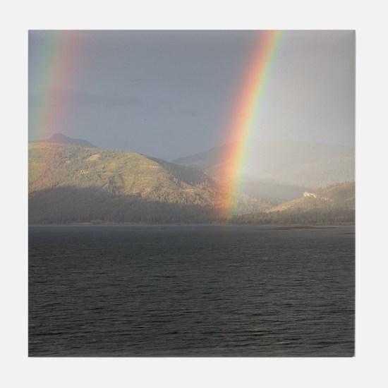 Cute Rainbow mountain Tile Coaster
