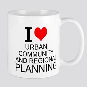 I Love Urban, Community, And Regional Planning Mug
