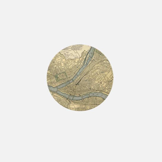 Vintage map Mini Button