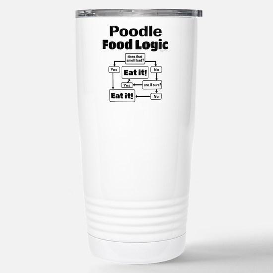 Poodle Food Stainless Steel Travel Mug