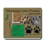 Mountain Lion Puma Tracks Mousepad