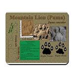 Mountain Lion Puma Tracks Mousepad