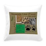 Mountain Lion Puma Tracks Everyday Pillow