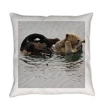 California Sea Otter Everyday Pillow