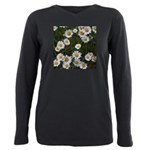 Shasta Daisies Plus Size Long Sleeve Tee