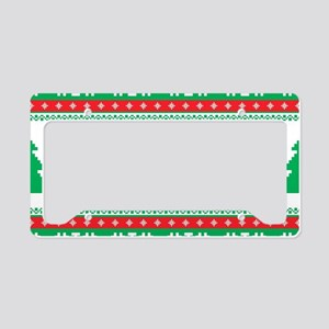 Ugly Christmas Sweater License Plate Holder