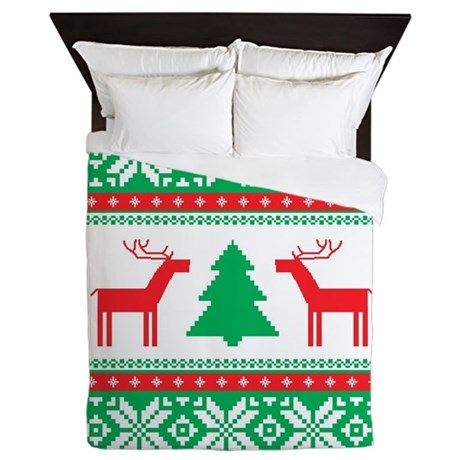 UGLY CHRISTMAS SWEATER QUEEN DUVET