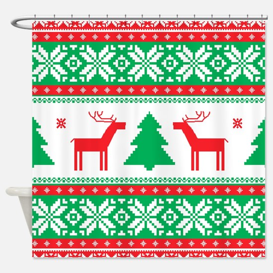 Ugly Christmas Sweater Shower Curtain