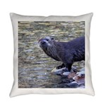 River Otter Everyday Pillow