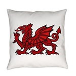 Red Welsh Dragon Everyday Pillow