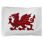 Red Welsh Dragon Pillow Sham