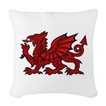 Red Welsh Dragon Woven Throw Pillow