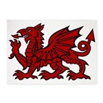 Red Welsh Dragon 5'x7'Area Rug