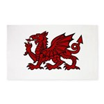 Red Welsh Dragon 3x5 Area Rug
