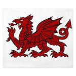Red Welsh Dragon King Duvet