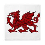 Red Welsh Dragon Queen Duvet