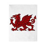 Red Welsh Dragon Twin Duvet