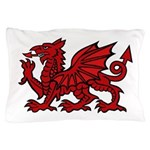 Red Welsh Dragon Pillow Case
