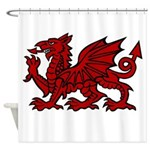 Red Welsh Dragon Shower Curtain